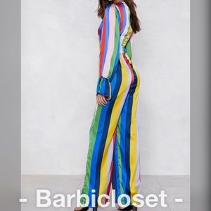 Dresses - Multicolored exclusive striped jumpsuit